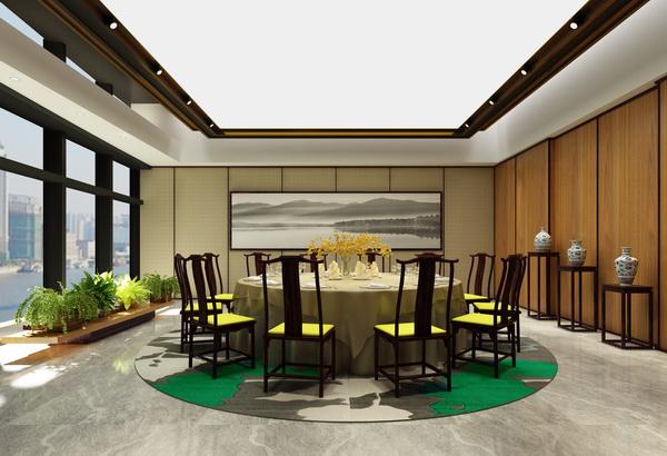 杭州12人餐厅包间效果图